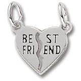 Best Friend Charm in White Gold Jewelry