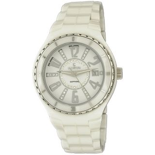 Le Chateau Womens Persida White Ceramic Sapphire Crystal Watch