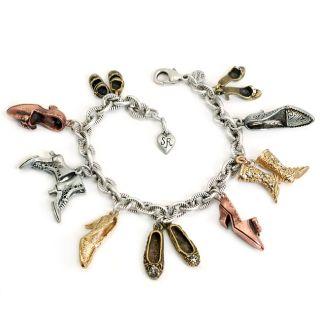 Sweet Romance Antique Shoes Vintage Charm Bracelet Today $31.99 4.0