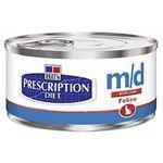 HILLS Prescription Diet Feline M/D 24x156 g   Aliment humide pour chat