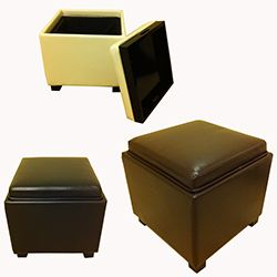 Classic Faux Leather Square Storage Ottoman Today $84.99