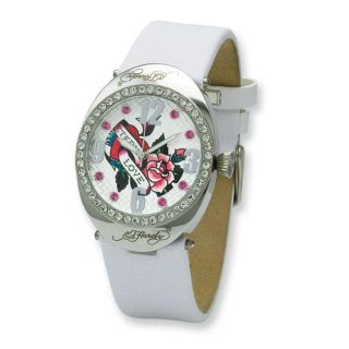 Womens Ed Hardy Sovereign White Band Watch
