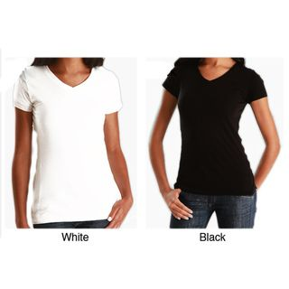 Womens Soft Cotton 3 Pack V Neck T shirt