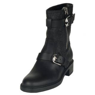 Gucci Edie Womens Black Leather Ankle Boots