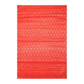 Indo Hand tufted Flat Weave Red/ Rose Kilim Rug (56 x 8)