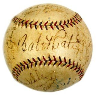 1934 YANKEES TEAM w/ BABE RUTH SIGNED AUTOGRAPHED BASEBALL