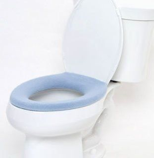 Comfy Covers Germ Resistant Toilet Seat Cover (Light Blue