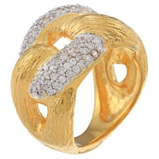Silver and Gold Rope Ring (India)