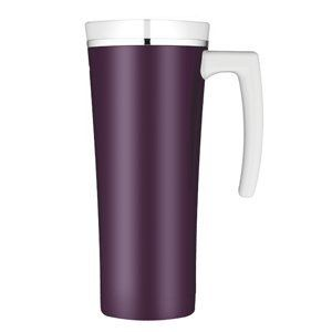 Thermos Sipp Vacuum Insulated Travel Mug   Plum/White