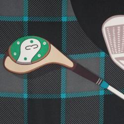 Gucci Mens Golf Club Print Scarf