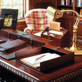 Artisan Leather Desktop Organizer   Frontgate: Office