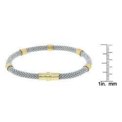 Eternally Haute Gold over Sterling Silver Italian Magnetic Bracelet