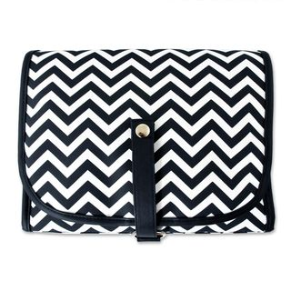 Cathys Concepts Chevron Hanging Cosmetic Bag with Grooming Kit