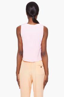 3.1 Phillip Lim Pink Silk Zip Tank Top for women