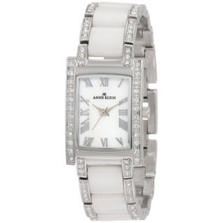 Anne Klein Womens White Ceramic Watch