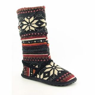 Rocket Dog Womens Starry Black Alpine Knights Knit Winter Boots