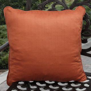 Kate Outdoor Sunnyside Coral Orange Throw Pillows (Set of 2