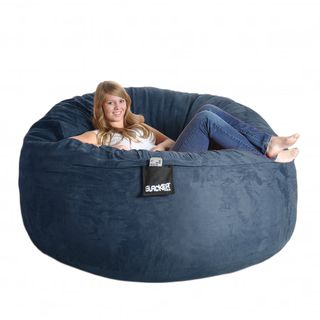 Slacker Sack 6 foot Navy Blue Microfiber and Foam Bean Bag