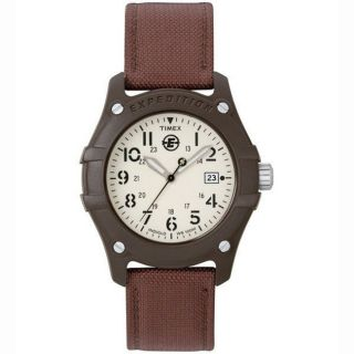 Timex Mens Casual Expedititon Indiglo Night Light Canvas Strap Watch