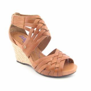 Indigo by Clarks Womens Pocomo Brown Platform Wedge Shoes (Size 9
