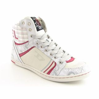 Diesel Womens Gray Sneaker Shoes