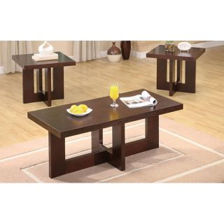 Sierra 3 piece Wood Coffee Table Set