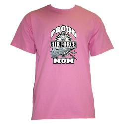 Fruit of the Loom Womens Air Force Mom Cotton Graphic T shirt