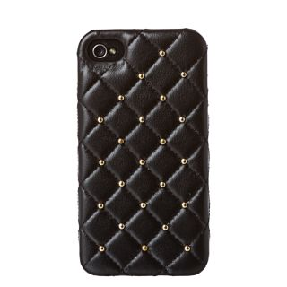 2ME STYLE DD052 GOLD Quilted Leather Studded iPhone 4/4S Case Today