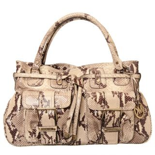 MICHAEL Michael Kors Python Large Leather Satchel