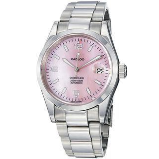 Kadloo Mens Ocean Class Pink Mother of Pearl Dial Steel Watch