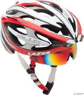Lazer Helium Helmet Red/White/Black LG with M1 Magneto