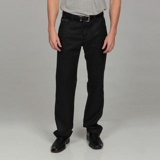 Enzo Tovare Mens Modern Fit Grey Flannel Pants
