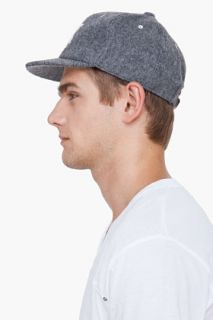 White Mountaineering Grey Embroidered Light Melton Cap for men