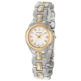 Accutron Barcelona Womens Stainless Steel and Yellow Gold Plated