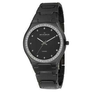 Skagen Womens Ceramic Stainless Steel Quartz Watch