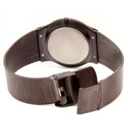 Skagen Mens Titanium Brown Mesh Watch