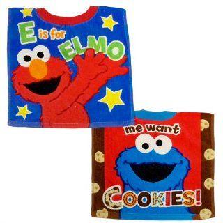 Sesame Street 2 Count Sesame Street Pullover Bib Set, Boy