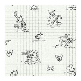 York Wallcoverings Disney Kids DK6083 Mickey Mouse Sketches Wallpaper