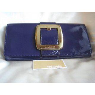 Michael Kors Sutton Clutch Purple Patent Leather