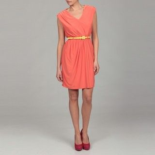 Miss Sixty Womens Cantelope Belted Jersey Dress