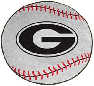 Georgia Bulldogs NCAA Baseball Round Floor Mat (29) G