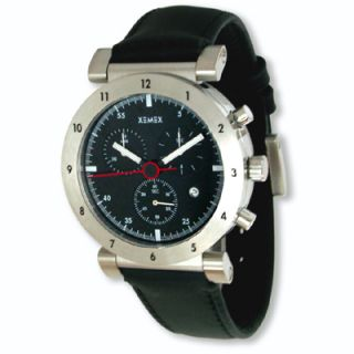 Xemex Offroad Mens Chronograph Black Leather Strap