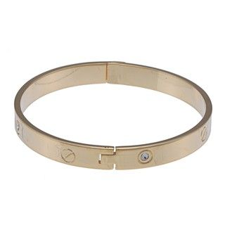 Morgan Ashleigh Goldtone Glass Bangle Bracelet
