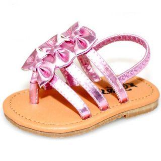 Baby Girl Pink Bow Fashion Crib Sandals