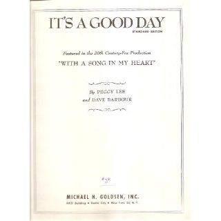 Music 1946 Its A Good Day Peggy Lee Dave Barbour 223