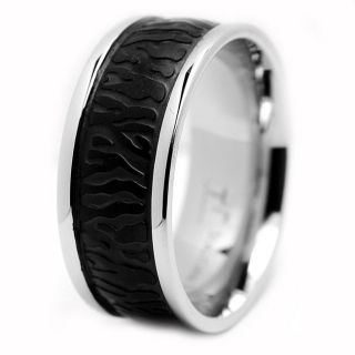 Stainless Steel Black plated Mens Ring