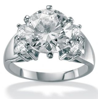 Ultimate CZ 10k White Gold Cubic Zirconia Fashion Ring