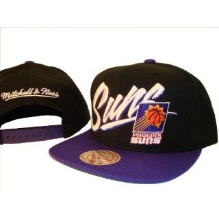 Phoenix Suns Mitchell & Ness Black Adjustable Snap Back Baseball Cap