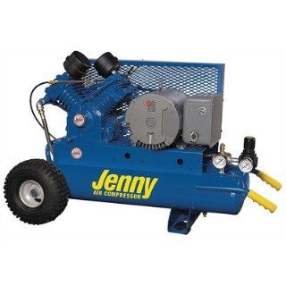 30 Gallon 5 HP Electric Motor 230 Volt Two Stage Wheeled Portable