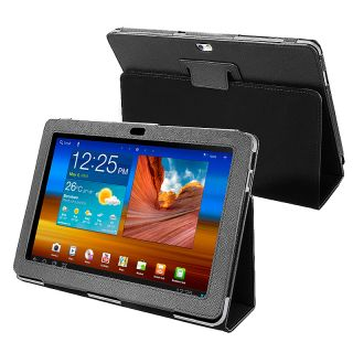 BasAcc Black Leather Case for Samsung Galaxy Tab P7500 10.1 inch